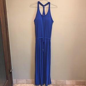 Athleta Racerback Waiist Tie Side Slit Dress Med